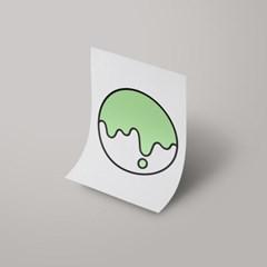 [A3 아트포스터] Signature Logo_ 다정한 민트(Tender Mint)