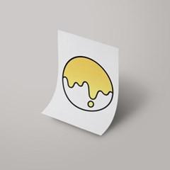 [A3 아트포스터] Signature Logo_ 멜로우 옐로우(Mellow Yellow)