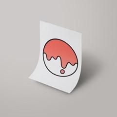 [A3 아트포스터] Signature Logo_ 사춘기의 코랄(Adolescent Coral)