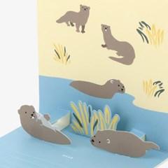 팝업 카드 - 15 Otter