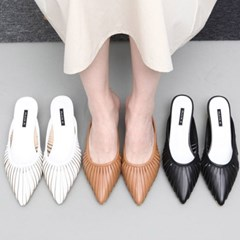 kami et muse Wood ball heel stiletto slippers_KM19s093