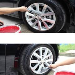 타이어 청소 세척 브러쉬 1개(랜덤)