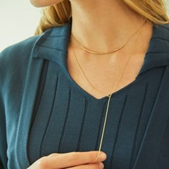 ROUND BAR LARIAT NECKLACE