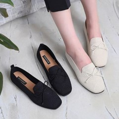 kami et muse  Knit ribbon loafers_KM19s096