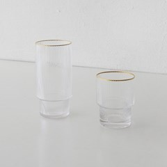 gold series - pleats glass (2 size)