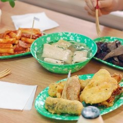 추억의 옛날 떡볶이 접시 분식집 그릇 5종 쑥색 라면기 멜라민