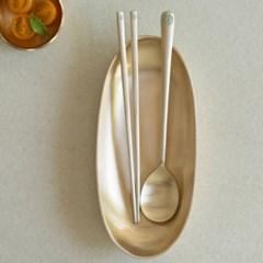 놋담 방짜유기 유기수저 연리지2인 레드카키
