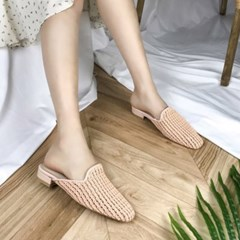 kami et muse Knoted mesh slippers_KM19s097