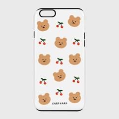 [하드/터프/슬라이드]Dot cherry bear-white