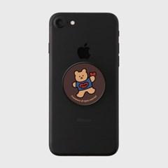 [어프어프] 스마트톡 Bear heart-brown