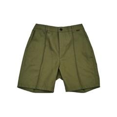 PINTUCK shorts_KHAKI