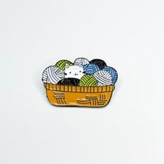 [맙소사잡화점] 털실 고양이 핀 뱃지