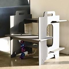 런메이크 층층이 캣타워-고양이용품 스크래쳐 장난감 캣폴 원목