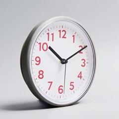 G163 심플라즈베리 무소음 방수 벽시계 욕실시계 16cm (856038)