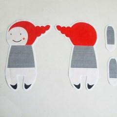 DIY 태교 바느질 언니오빠 컷트지 애착 인형만들기