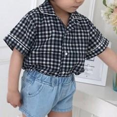 카라체크 아동 셔츠