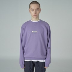 Overlap sweatshirt-purple