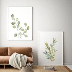 수채화 유칼립투스 보테니컬 그림 인테리어 액자 포스터