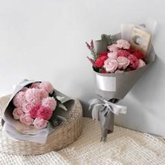 비누꽃 카네이션 & 장미 용돈 꽃다발