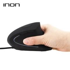 아이논 인체공학 버티컬 유선 마우스 IN-MO010