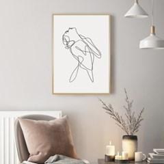 우먼바디 드로잉 그림 액자 인테리어 포스터