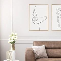 우먼페이스 드로잉 그림 액자 인테리어 포스터