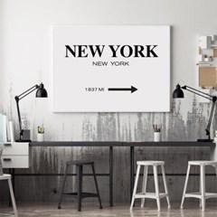 1837MI 뉴욕 타이포그래피 액자 인테리어 그림 포스터