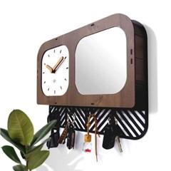 [나룸]RWC-004 현관 키홀더 거울 시계 (무소음)