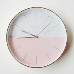 마블 핑크골드 저소음 시계