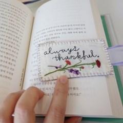 [텐텐클래스] (혜화) 카네이션과 라벤더, 자수 책갈피