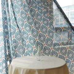 [Curtain] 끌라떼 디자인 쉬폰 커튼 다마스크