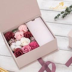 NEW 카네이션앤목화 플라워용돈박스+쇼핑백증정_로맨틱그레이