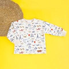 애니멀 프린트 아동 티셔츠 IB2CL406U
