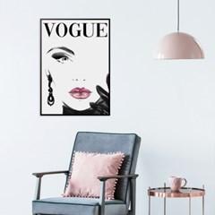 핑크립 타이포그래피 패션 보그 포스터 인테리어 그림 액자
