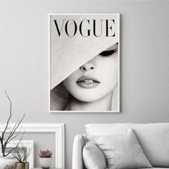 보그 빈티지 우먼 타이포그래피 패션 포스터 그림 액자