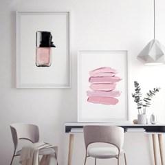 핑크라인 패션 포스터 인테리어 그림 액자