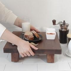 핸드메이드 원목 정사각 티테이블