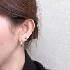[925실버] 통통 실버 귀걸이 chubby silver earring