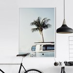 서핑버스 해변 풍경 액자 인테리어 포스터