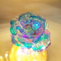 [주문제작] 캘리 레터링 홀로그램장미 유리돔 글라스돔 기념일 선물