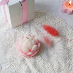 [Pink Blossom Candle] 핑크블러썸 연꽃 밀랍초