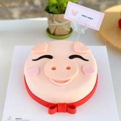 우리모두 행복하면 돼지 케이크