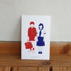 유니크 엽서 포스트카드 M A세트 B세트 5ea