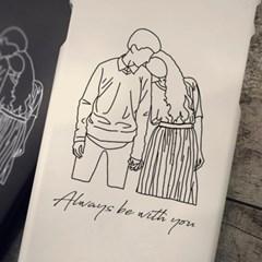 LINE Drawing ♥ 라인드로잉 커플포토폰케이스