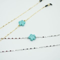 Flower Turquoise sugical glasses chain