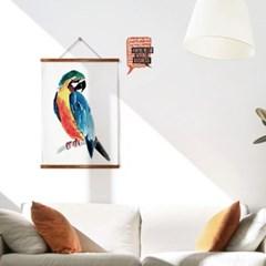 패브릭 포스터 F287 동물 새 그림 트로피컬 액자 앵무새