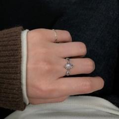 레인보우 문스톤 비앙코 반지