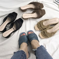 kami et muse Multi strap middle heel slippers_KM19s134