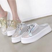kami et muse Glittering toe backless sneakers_KM19s138