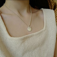 cherish round necklace